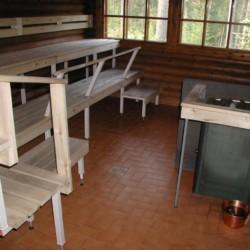 Sauna am Gruppenhaus Vanamola für Kinder und Jugendreisen in Finnland.