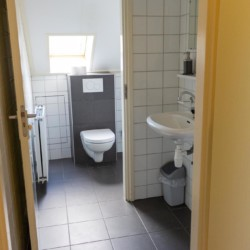Badezimmer im niederländischen Gruppenhaus Markestee