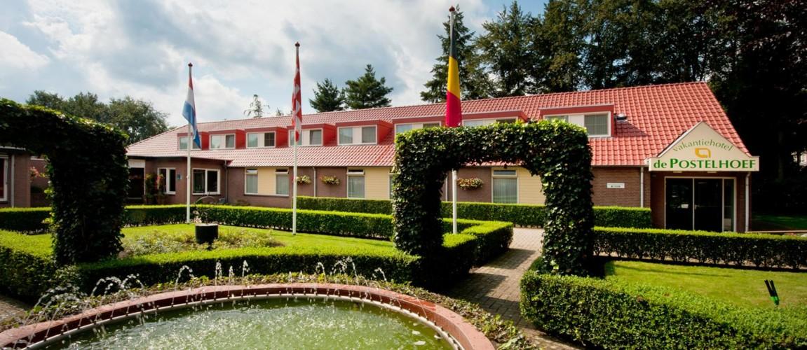 Der Eingangsbereich des Hotels de Postelhoef in den Niederlanden.