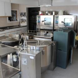 Die Küche im norwegischen Gruppenhaus Audnastrand.