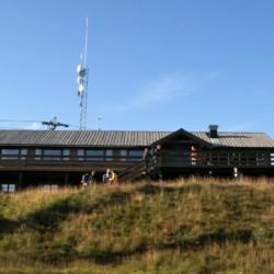 Norwegisches Gruppenhaus Utsikten in den Bergen.