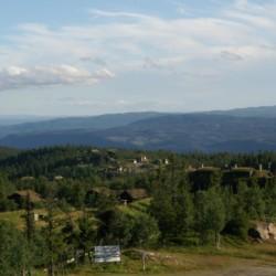 Ausblick vom norwegischen Gruppenhaus Utsikten
