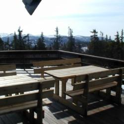 Terrasse des norwegischen Gruppenhauses Utsikten