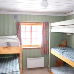 5er Zimmer mit Stockbetten im norwegischen Freizeitheim Blestølen Leirsted