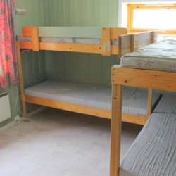 4er Zimmer mit Stockbetten im norwegischen Freizeitheim Blestølen Leirsted