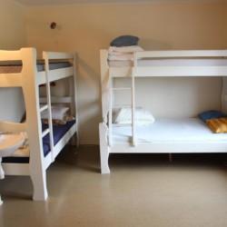 Ein Vierbettzimmer im norwegischen Gruppenhaus Haraset.