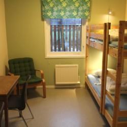 Zweierzimmer im schwedischen Jugendheim Bovik Lägergård.