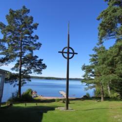 Gottesdienst am Freizeithaus Bovik Lägergård in Schweden.