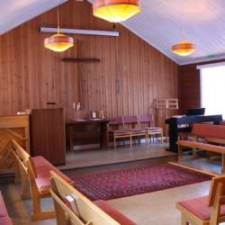 Kapelle im schwedischen Ferienhof Skoglundsgarden für Kinderfreizeiten