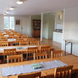Der Speisesaal im schwedischen Gruppenhause Sommarhagen.