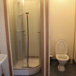 Ein Badezimmer im Freizeitheim Sommarhagen in Schweden.