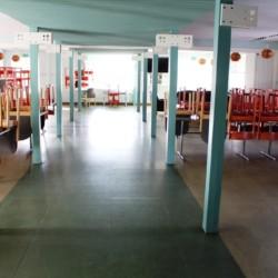 Speisesaal im schwedischen Gruppenhaus am See Vägsjöförs Herrgård