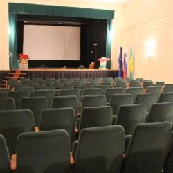 Der Theatersaal des Ortes in der Nähe des Gruppenhauses Ljutomer in Slowenien.