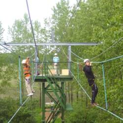 nlsc Hochseilgarten im niederländischen Freizeitheim Schaapskoi für Kindergruppen und Jugendfreizeiten