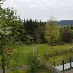 Garten im Winterberger Tor im Sauerland für behinderte Menschen und Rollstuhlfahrer