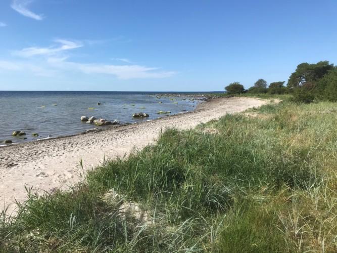 Strand am Freizeitheim für Jugendgruppen in Schweden auf Gotland