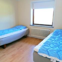 Helles Doppelzimmer im dänischen Gruppenhaus Skovly Langeland