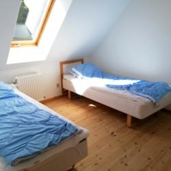 Ein Doppelzimmer im dänischen Freizeithaus Skovly Langeland.