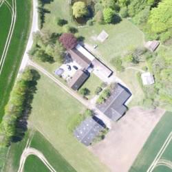 Das dänische Freizeitheim für Kinder- und Jugendfreizeiten Skovly Langeland aus der Vogelperspektive