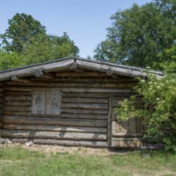 kleine Hütte für gemütliche Runden am deutschen Gruppenhaus Tydal an der dänischen Grenze