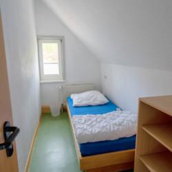 Schlafraum im Gruppenhaus Forsthaus Eggerode im Harz in Deutschland für Kinderfreizeiten
