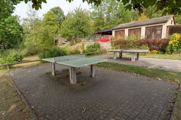 Tischtennis am Freizeitheim Forsthaus Eggerode im Harz in Deutschland für Kinderfreizeiten