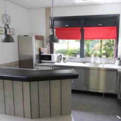 Küche im Gruppenhaus Heidegaard für behinderte Meschen in den Niederlanden