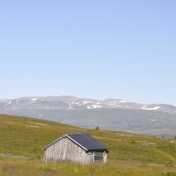 Wanderwege um das Gruppenhaus in Norwegen