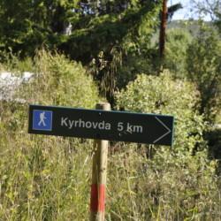 Wanderwege am norwegischen Gruppenhaus
