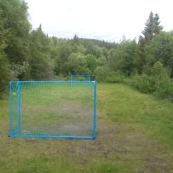 Der Fußballplatz am Gruppenhaus Hallingdal in Norwegen