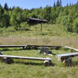 Gruppenhaus in Norwegen mit Lagerfeuerstelle