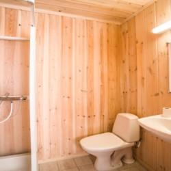 Norwegisches Haus mit eigenen Bad in Norwegen.