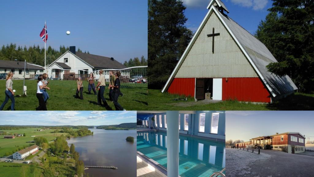 Collage große Freizeitheime Norwegen
